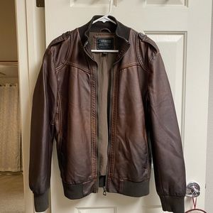• 21Men • Faux Leather Jacket